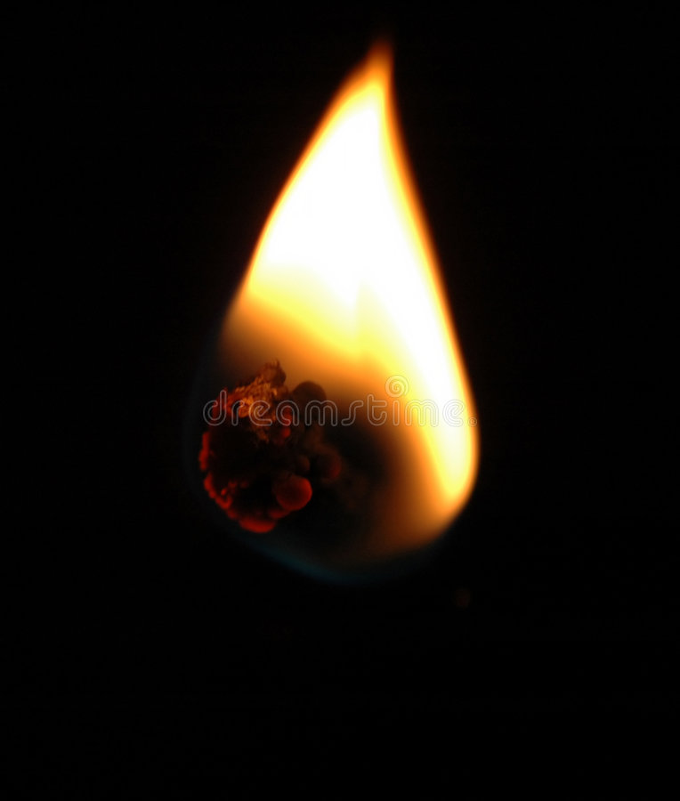 Download Flamme image stock. Image du chaud, heat, priez, isolement - 58525