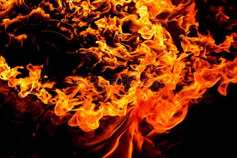 Flamme brûlante d'incendie image stock