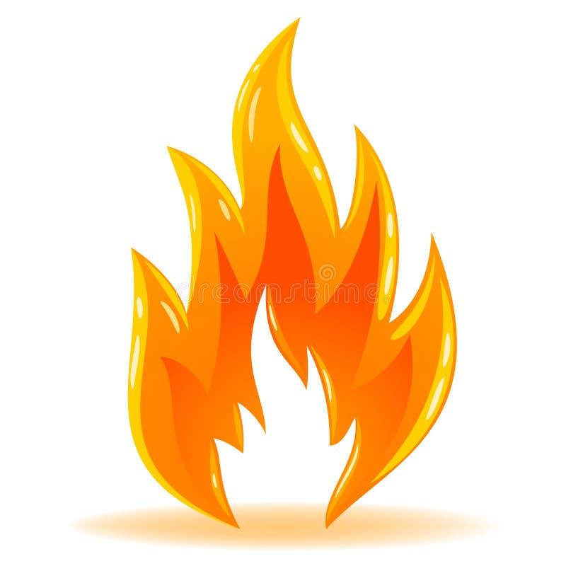 Flamme brillante d'incendie de symbole de vecteur illustration libre de droits