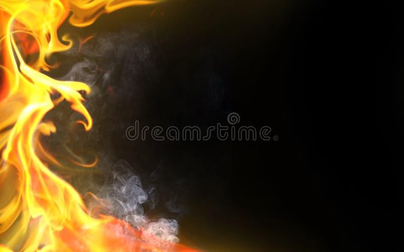 Flamme décorative illustration libre de droits
