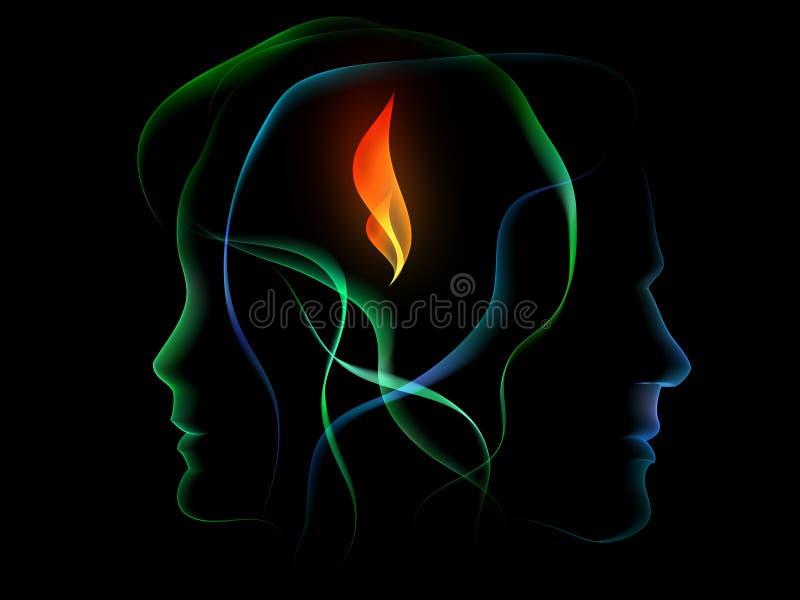 Flamme d'adhérence illustration de vecteur