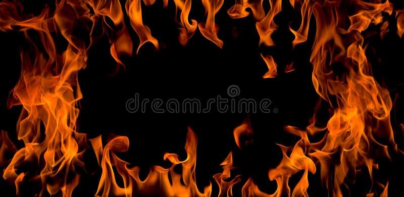 Flamme d'incendie, d'isolement photographie stock libre de droits