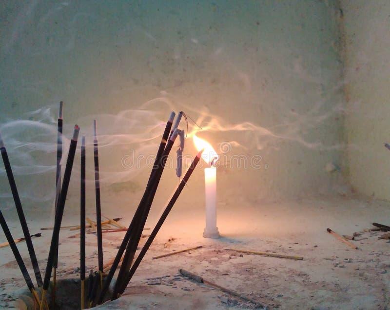 Flamme de bougie image libre de droits