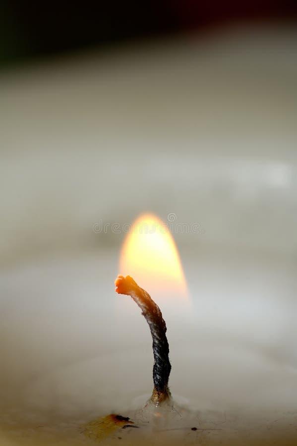 Flamme de bougie image stock