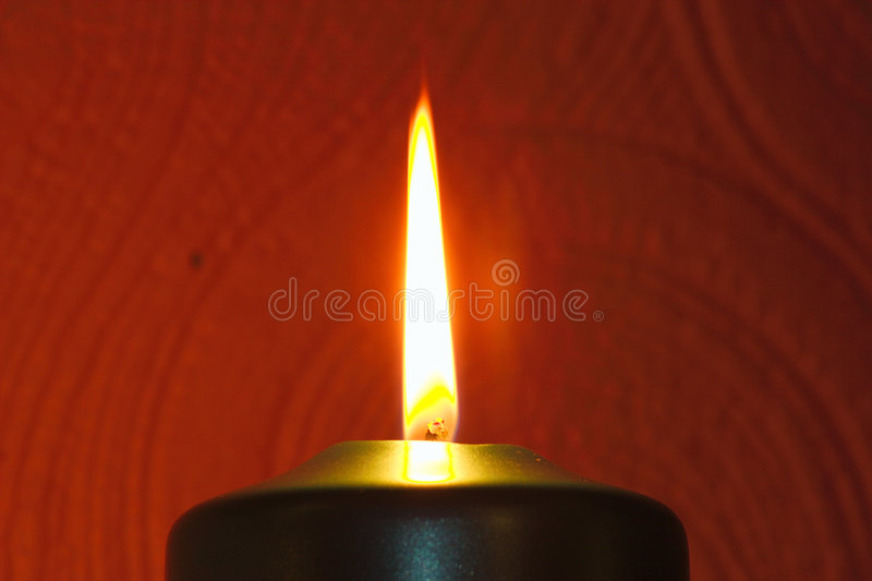 Flamme De Bougie Images stock