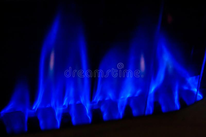 Flamme de gaz photos stock