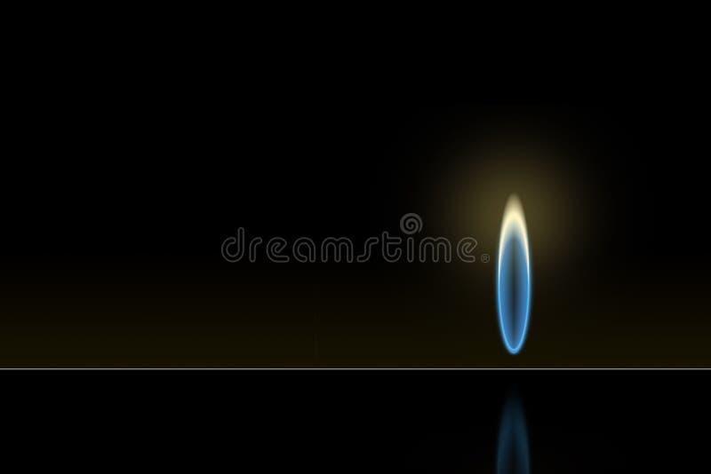 Flamme de gaz photographie stock