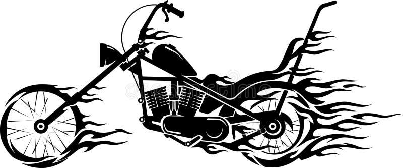 Flamme de moto de vintage illustration stock