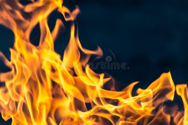 Flamme du feu comme fond photographie stock