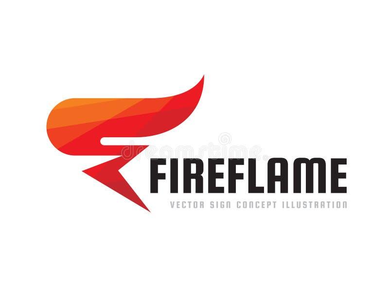 Flamme du feu - dirigez l'illustration de concept de calibre de logo Signe créatif de torche rouge abstraite Élément de conceptio illustration stock
