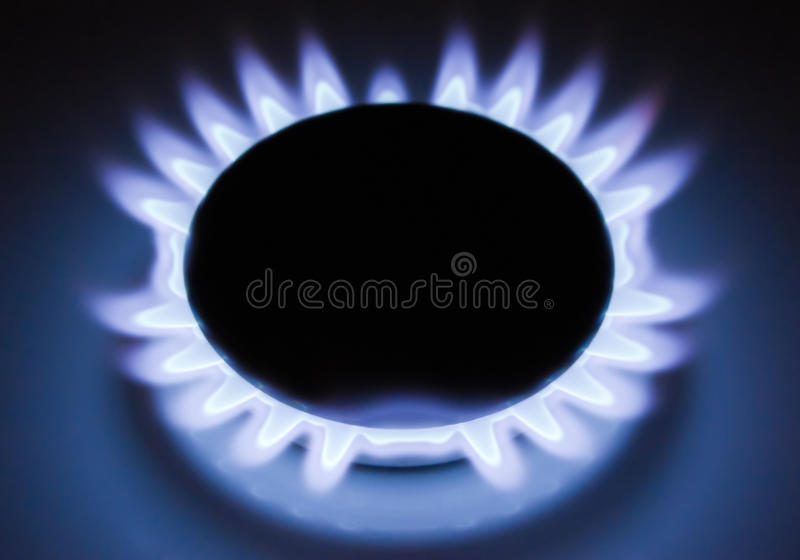 Flamme du gaz image libre de droits