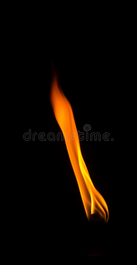Flamme impressionnante photographie stock