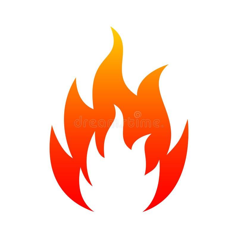 flamme Le feu de cinq langues Logo d'illustration d'icône - pour des actions illustration stock