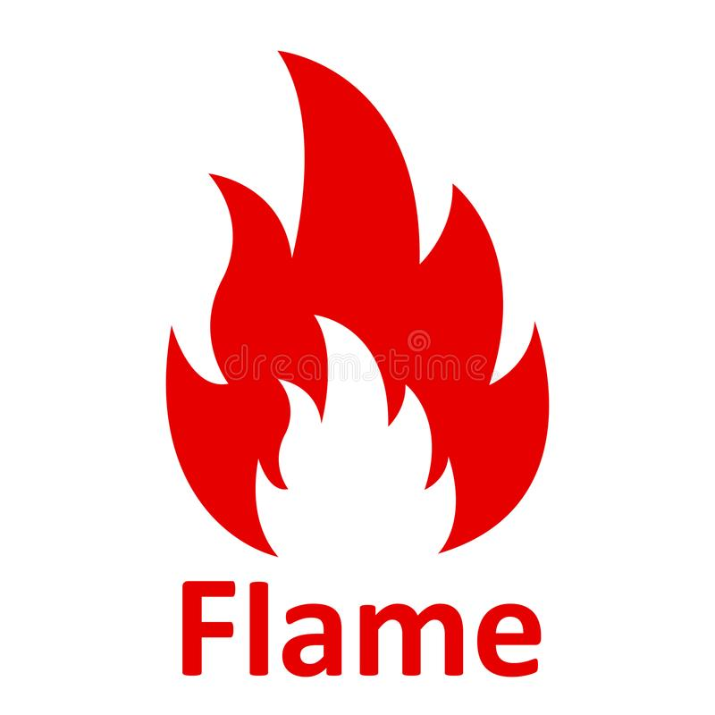 flamme Le feu de cinq langues Logo d'illustration d'icône - vecteur illustration de vecteur