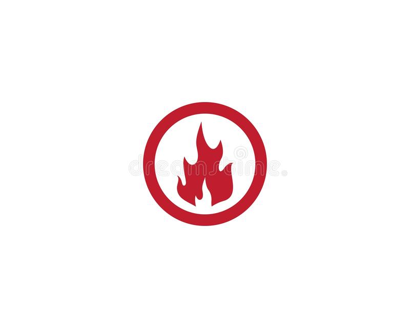 Flamme Logo Template du feu illustration stock