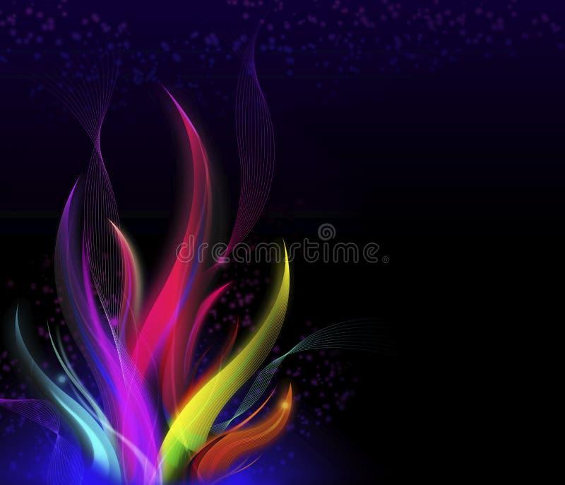 Flamme onduleuse élégante, fond abstrait moderne coloré illustration stock