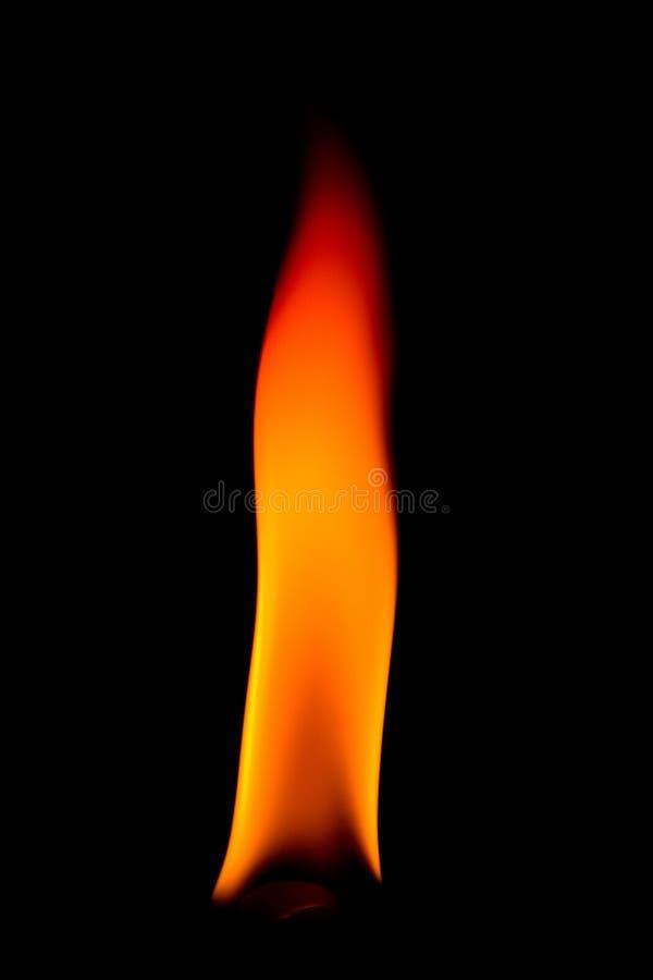 Flamme orange épaisse photo stock