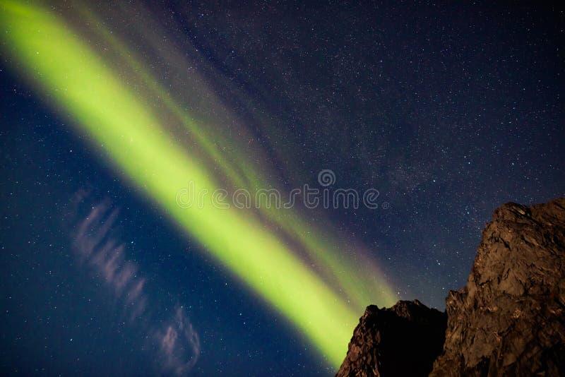 Flamme silencieuse, Kvaløya, Norvège images stock
