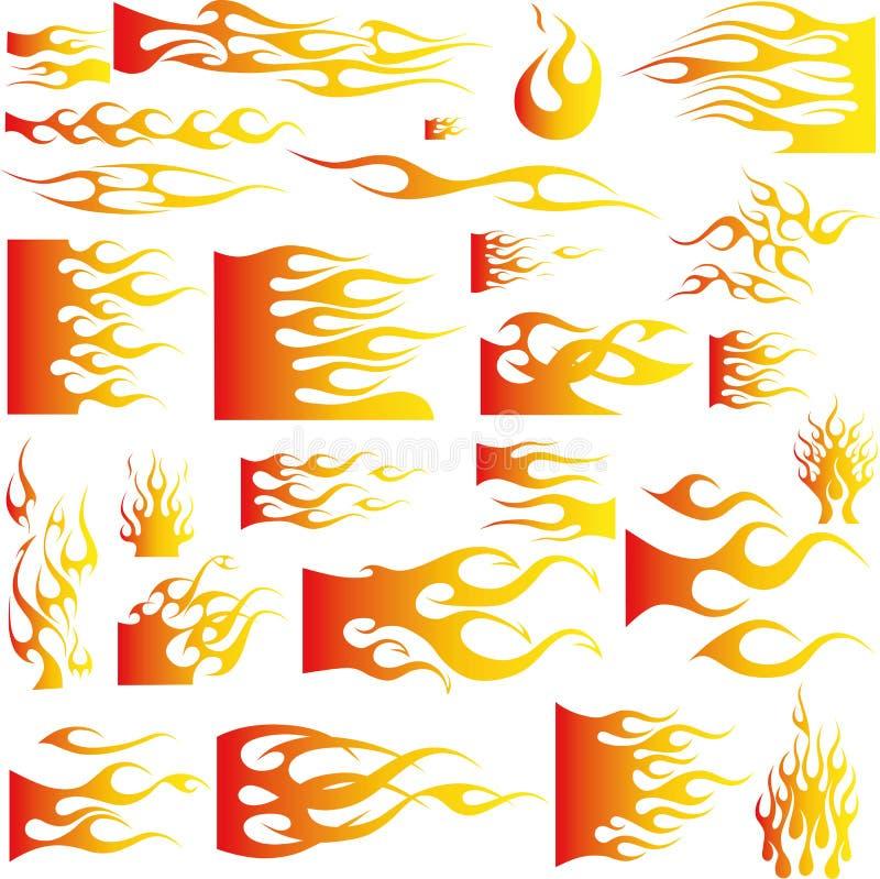 Flamme-Vektor stockfoto