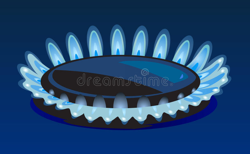 Flammen des Gases vektor abbildung