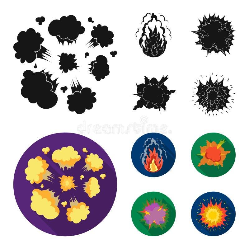 Flammen Sie, die Funken, Wasserstofffragmente, atomar oder gasen Sie Explosion, Gewitter, Solarexplosion Explosionen stellten Sam lizenzfreie abbildung