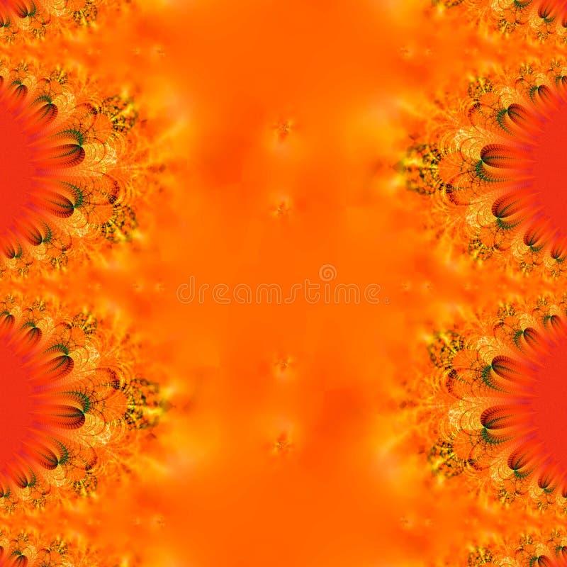 Flammender Herbst-Auszug vektor abbildung