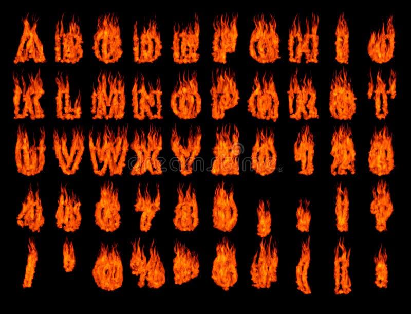 Flammendes Alphabet 1 vektor abbildung