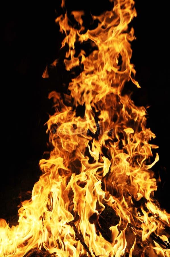 Flammendes Feuer stockfoto