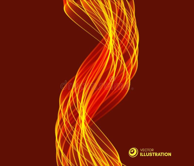Flammenfeuerhintergrund für Design und Darstellung Vektorillustration mit Bewegungseffekt vektor abbildung