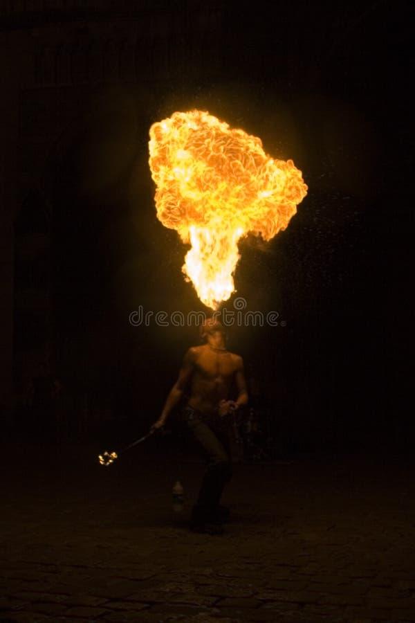 Flammenwerfer lizenzfreies stockfoto