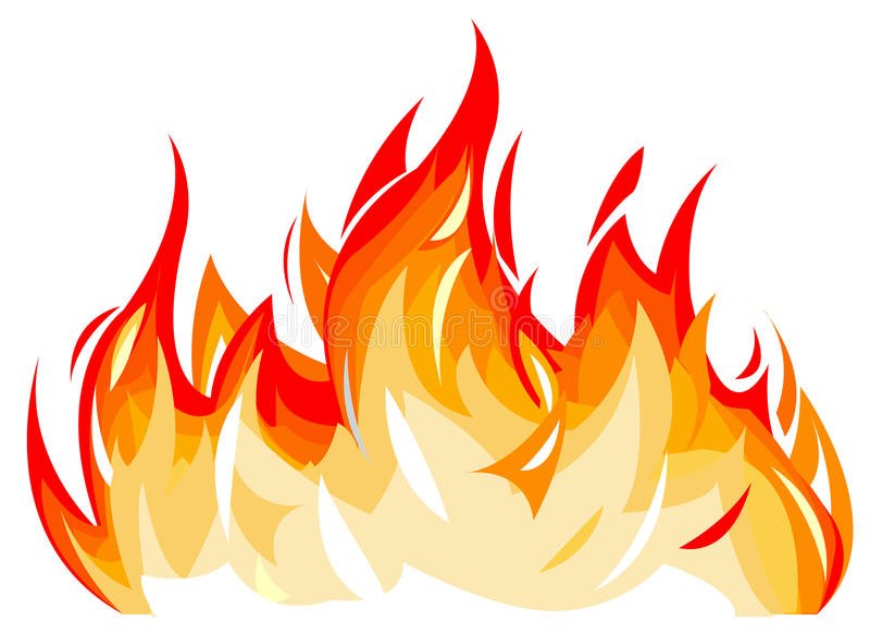 Flammes illustration de vecteur