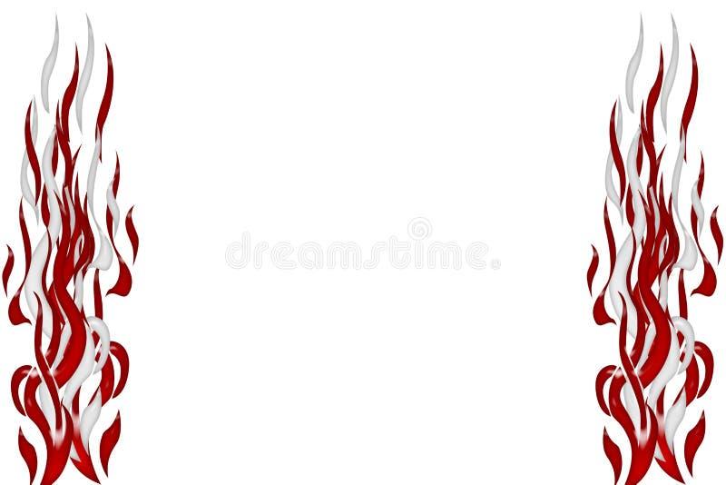 Flammes abstraites illustration de vecteur