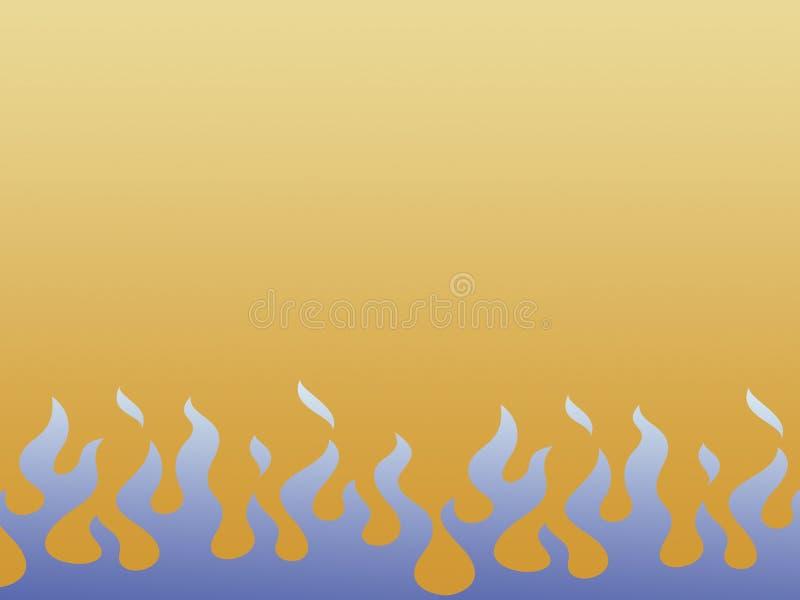 Flammes bleues illustration libre de droits