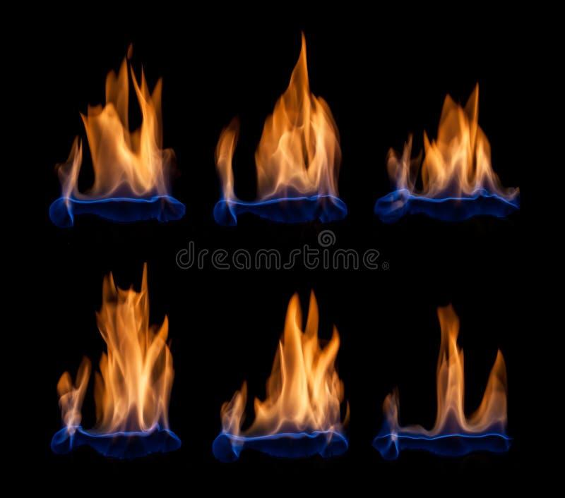 Flammes bleues photos libres de droits