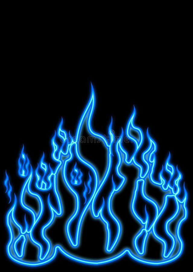 Flammes bleues de gaz illustration stock