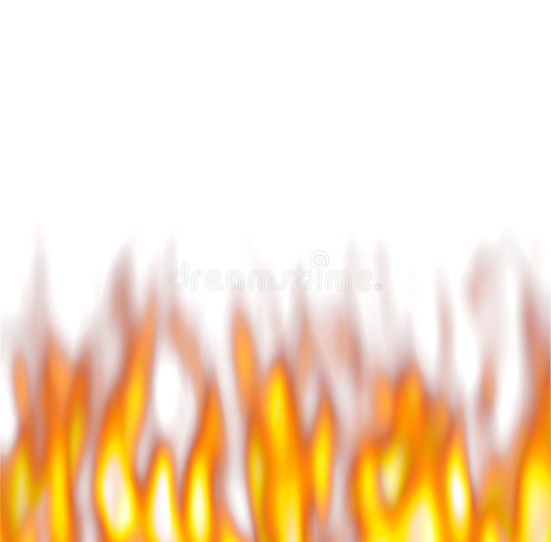 Flammes chaudes au-dessus de blanc illustration de vecteur