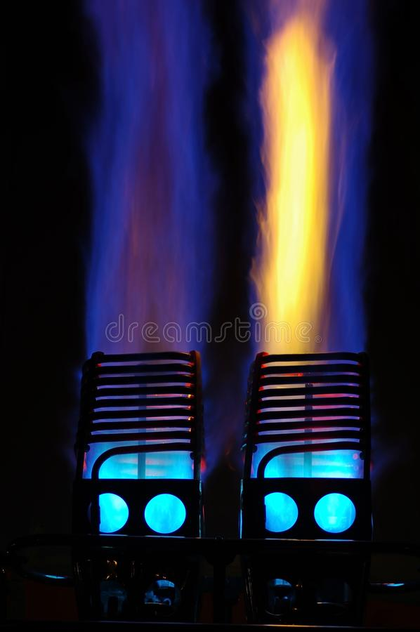 Flammes chaudes de ballon à air photos libres de droits