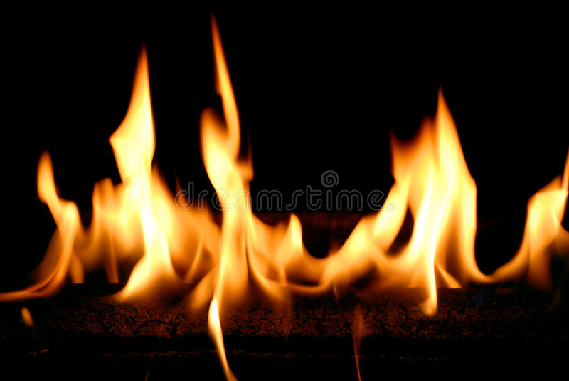 Flammes d'incendie image stock