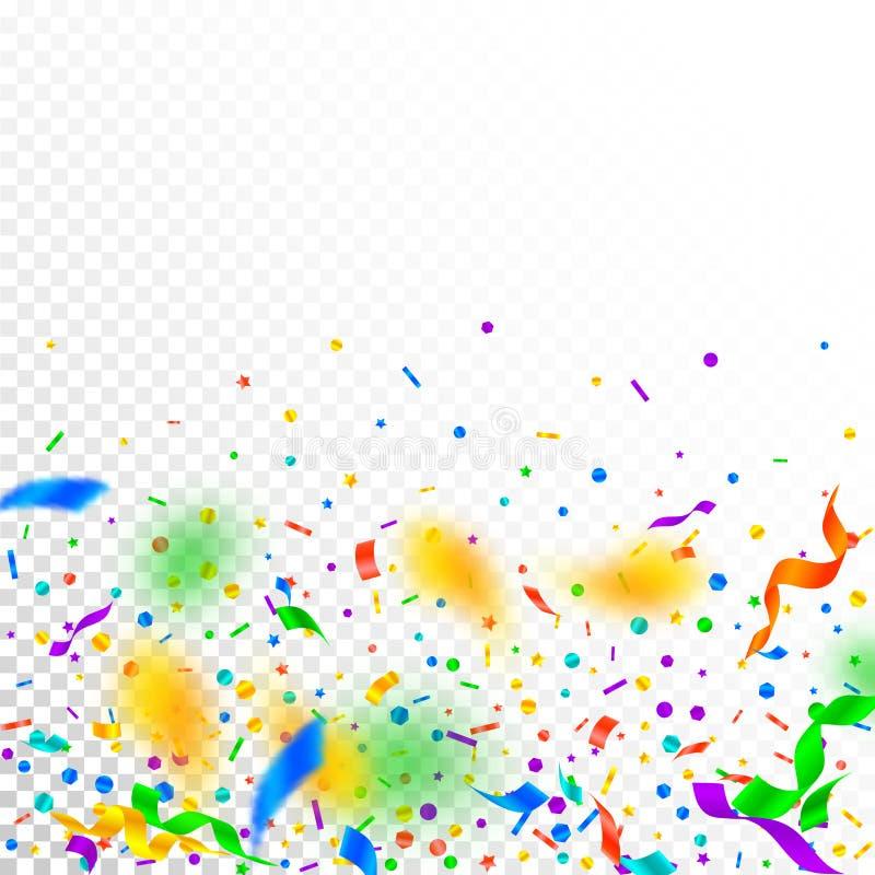 Flammes et confettis Ri de f?te de tresse et d'aluminium illustration stock