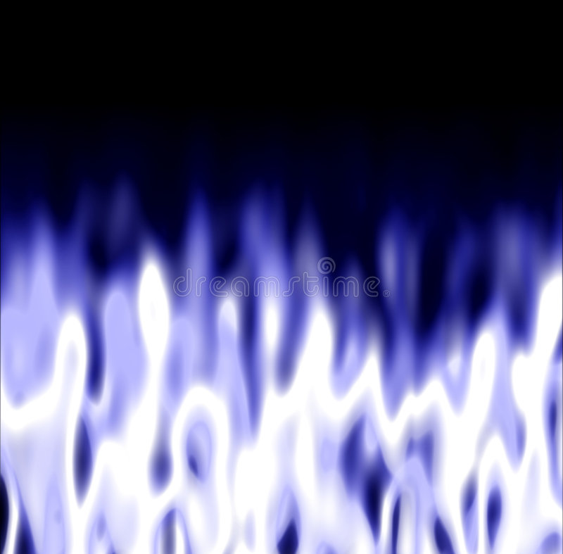 Flammes glaciales au-dessus de noir illustration stock