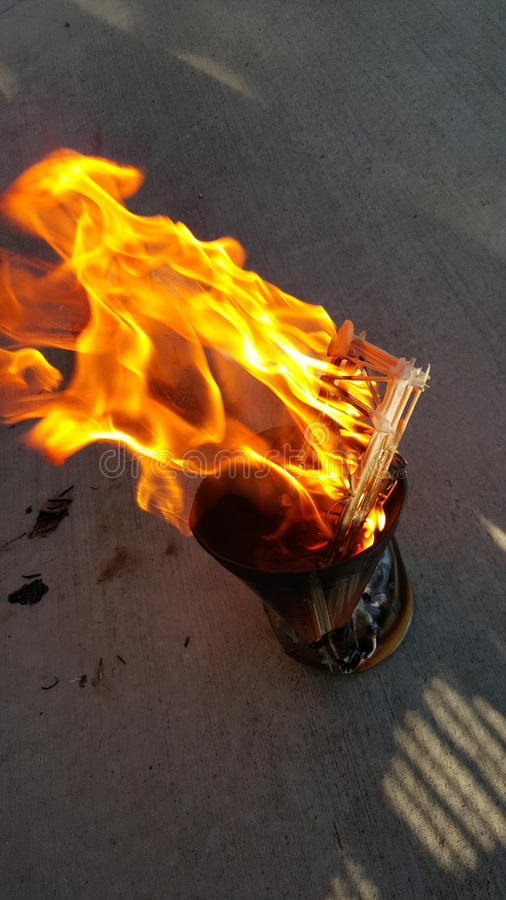 Flammes infinies images libres de droits