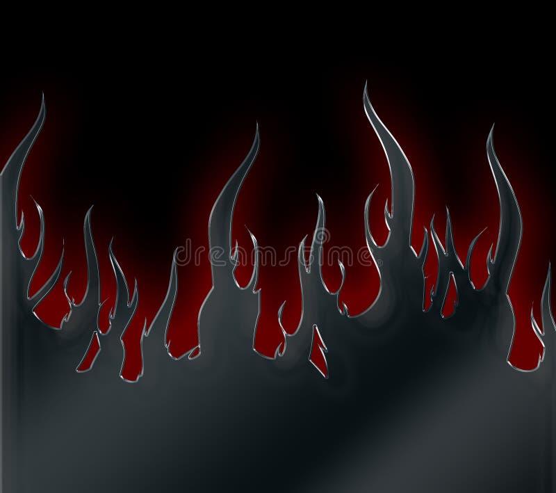 Flammes métalliques photographie stock libre de droits
