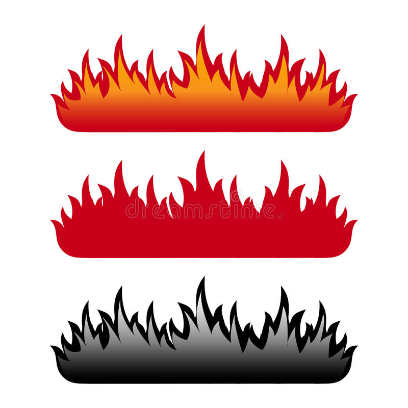 Flammeset vektor abbildung
