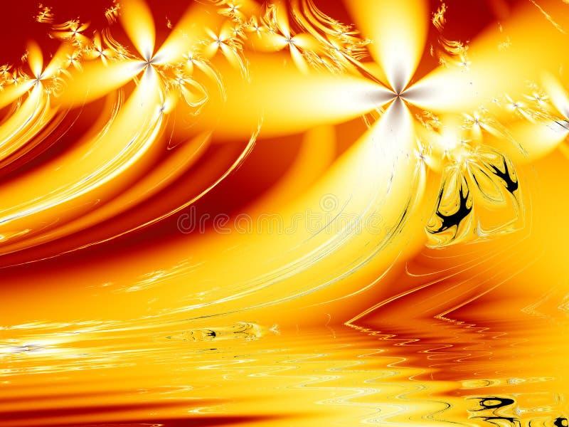 Flammewellen stockbild