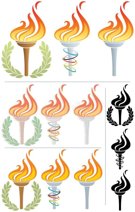 flammfackla royaltyfri illustrationer