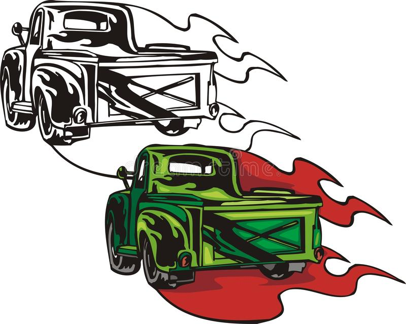 flammhotrods stock illustrationer