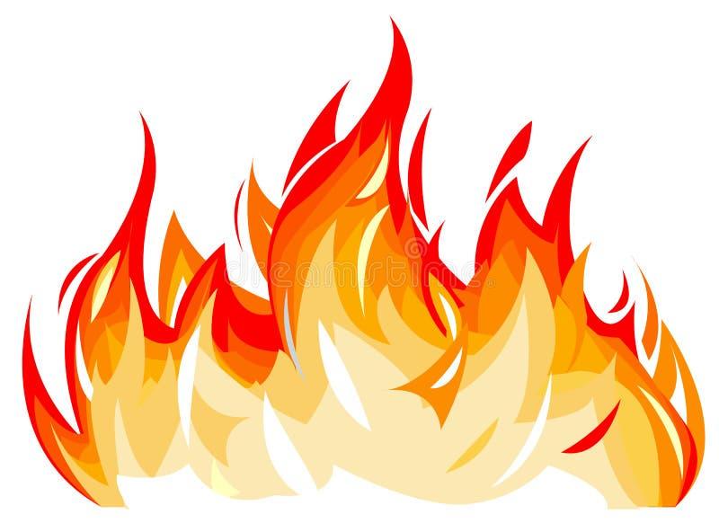 flammor vektor illustrationer