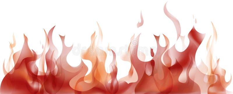 flammor royaltyfri illustrationer