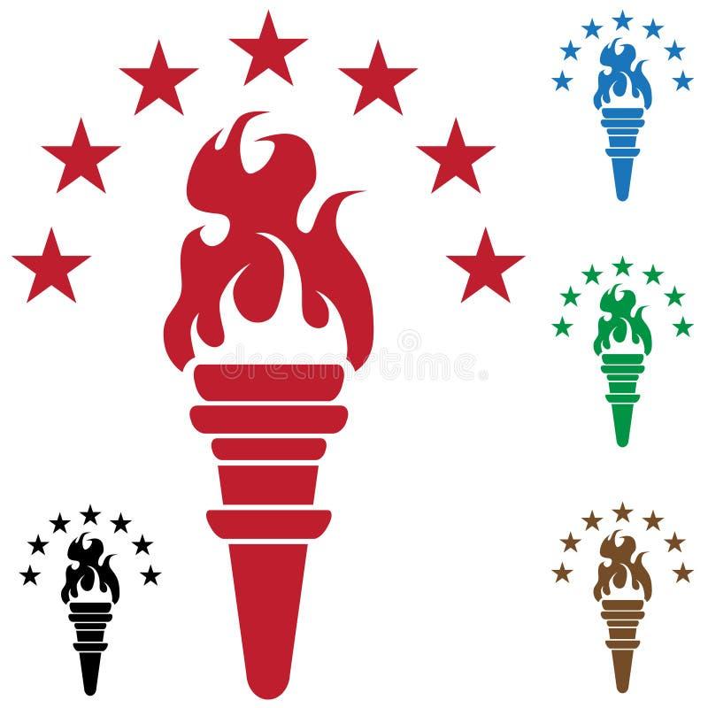 flammstjärnafackla stock illustrationer