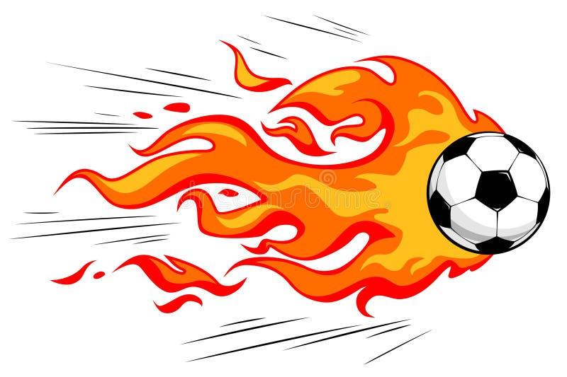 flamy fotboll för boll royaltyfri illustrationer